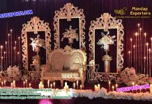 Indian Wedding backstage temple panels