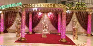 Luxurious Indian Wedding Fiber Mandap