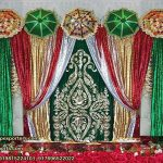 Mehndi Stage Embroidered Backdrops Decoration