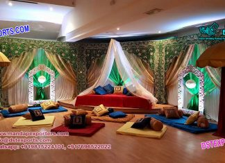 Muslim Sangeet event Backdrops Curtains