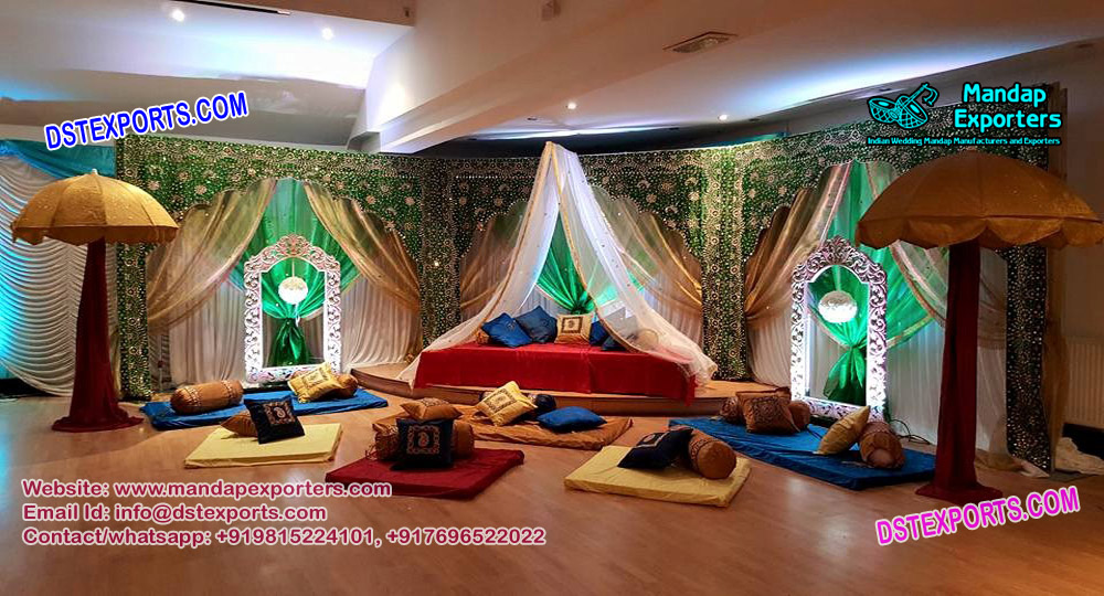 Fine Muslim Sangeet Event Backdrops Curtains Mandap Exporters Interior Design Ideas Inamawefileorg