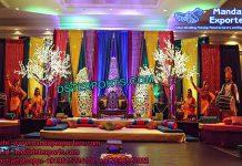 Punjabi Mehandi Stage set