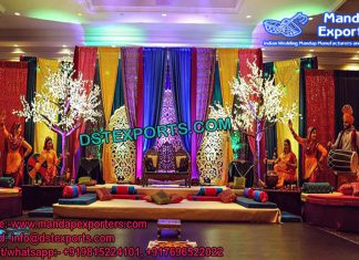 Punjabi Mehandi Stage set