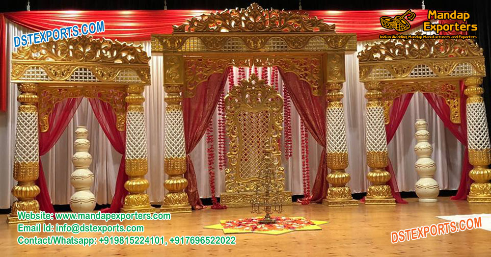 South Indian Wedding Reception Stage