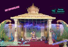 Sri Lankan Wedding Peacock Theme Mandap
