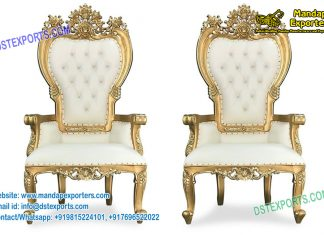 Stylish Marriage Reception Throne Chairs
