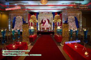 Traditional Indian Wedding Stage Setup