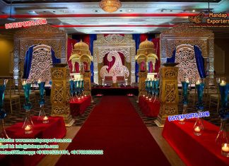 Traditional Indian Wedding Stage Setup