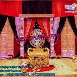 Traditional Rajwada Wedding Stage Decoration