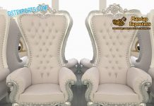 Wedding Event Royal silver Carved Chairs
