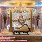 Beautiful Wedding Leather Tufted Panel Stage