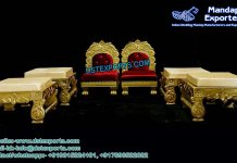 Traditional Wedding Mandap Low Chairs Set
