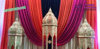 Wedding Stage Moroccan Lamps Decoration