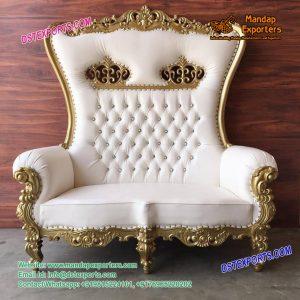 Wedding White Royal Love Seater