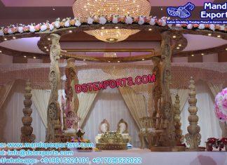 Hindu Wedding Wooden Carved Mandap