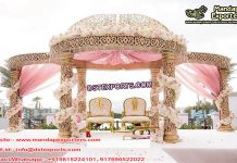 Wedding Golden Mandap with Dom
