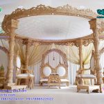 Wedding Wooden Look Fiber Mandap