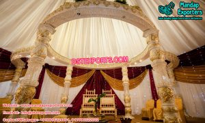 White Wedding Fiber Crystal Mandap