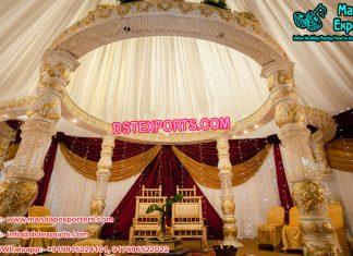 White Wedding Fiber Crystal Mandap
