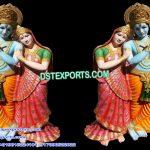 Lord Radha Krishna Fiber Statues