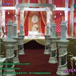 White Fiber Crystal Wedding Mandap