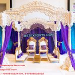 Royal Hindu Wedding Wooden Mandap