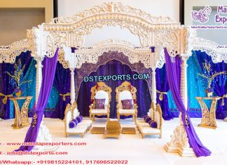 Royal Hindu Wedding Wooden Mandap