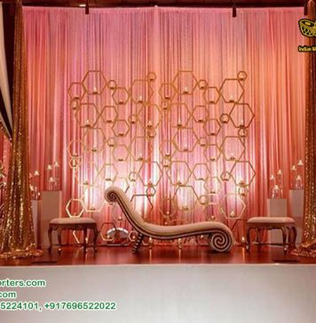 Attractive Wedding Backdrop Stage Decoration