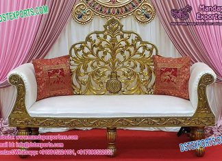 Charming Wedding King Throne Love seater