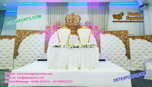 English Wedding Backstage Leather Panels