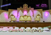 Exceptional Wedding Leather Backdrop Panels