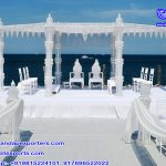 Fascinating Outdoor Crystal Mandap for Wedding