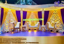 Dazzling Asian Marriage Reception Stage