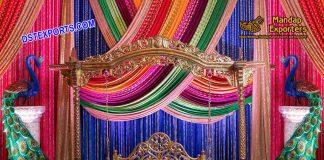 Gorgeous Peacock Theme Mehndi Swing