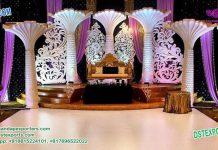 Grandious Wedding Palm Tree Stage Decoration