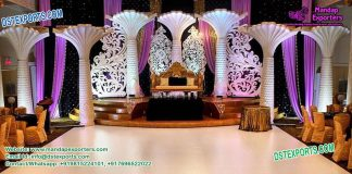 Grandious Wedding Palm Tree Stage Decoration