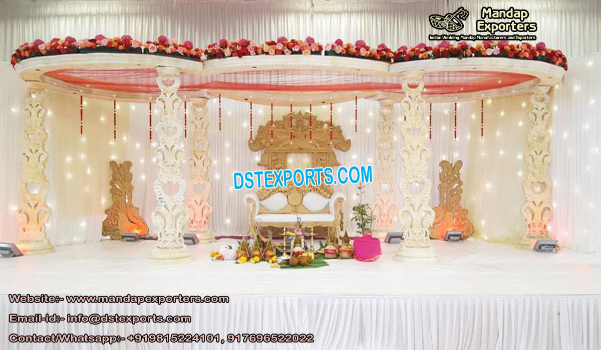Hindu Wedding Wooden Peacock Mandap