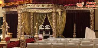 Indian Royal Wedding Golden Mandap