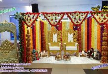 Indian Wedding Floral Decoration Mandap