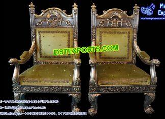 Rajwada Style Wedding Stage Chairs