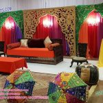 Mehndi Ceremony Colorfull Backdrop Curtains