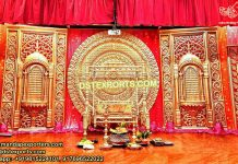 South Indian Wedding Stage Back-frames