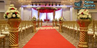 Wedding Walkway Fiber Pillars/Flower Pot