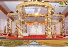 Hindu Wedding Ceremony Golden Mandap