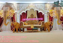 Grand Rajwada Style Wedding Stage