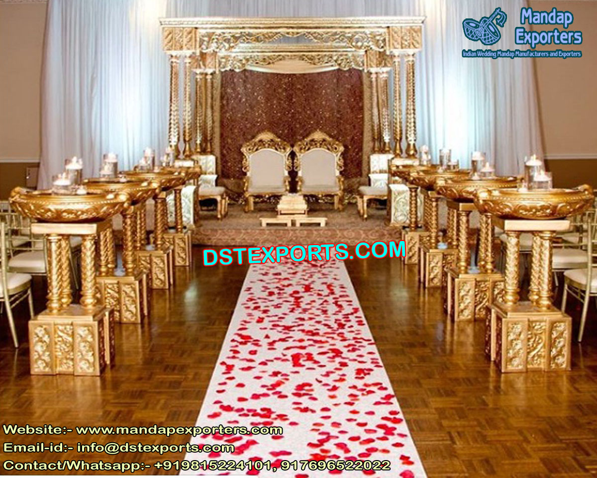 Top Wedding Triple Pillar Mandap