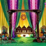 Beautiful Wedding Haldi Ceremony Backdrop Curtains