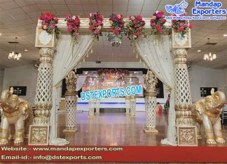 Beautiful Wedding Welcome Gate With Elephant Statue