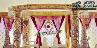Best Designed Wedding Crystal Mandap