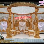 Classical Look Wooden Wedding Mandap